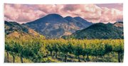 Sunset In Napa Valley Beach Towel