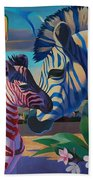Sunset In Ngoro Ngoro Beach Towel