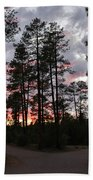 Sunset In The Pines Beach Towel