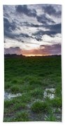 Sunset In The Swamp Beach Towel