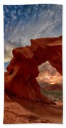 Sunset In The Valley Of Fire Beach Towel
