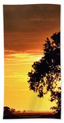 Sunset In The Valley Beach Towel