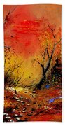 Sunset In The Wood Beach Towel