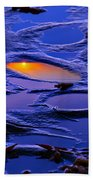 Sunset In Tide Pools Beach Towel