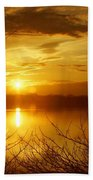 Sunset Lake Galena Beach Towel