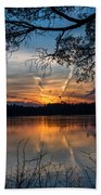 Sunset Lake Horicon Lakehurst New Jersey Beach Towel