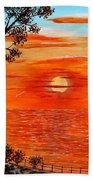 Sunset Lighthouse Beach Towel