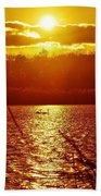 Sunset Love At Crosswinds Beach Towel