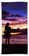 Sunset Maui Style Beach Towel