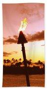 Sunset Napili Maui Hawaii Beach Towel