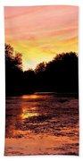 Sunset Near Rosemere - Qc Beach Towel