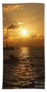 Sunset Over Key West Beach Towel