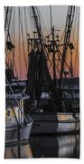 Shem Creek Sunset - Charleston Sc Beach Towel