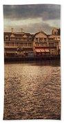 Sunset On The Boardwalk Walt Disney World Beach Towel