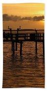 Sunset On The Dock Beach Towel