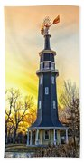 Sunset On The Dwight Windmill Beach Towel