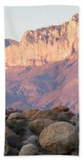 Sunset On The Guadalupe Mountains Beach Towel