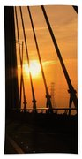 Sunset On The High Rise Beach Towel