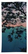 Sunset On The Hill Beach Towel