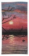 Sunset On The Lake Beach Towel