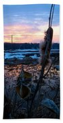 Sunset On The Pond Beach Towel