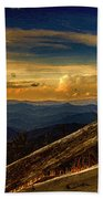 Sunset On Top Of Mount Mitchell Beach Towel