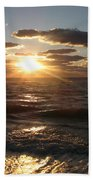 Sunset On Venice Beach  Beach Towel