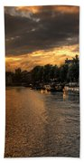 Sunset Over Amsterdam  Beach Towel