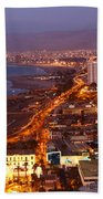 Sunset Over Arica Chile Beach Towel
