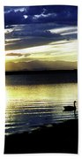 Sunset Over Aurora Beach Towel