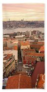 Sunset Over Istanbul Beach Towel