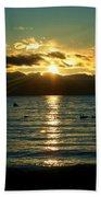 Sunset Over Lake Tahoe Beach Towel