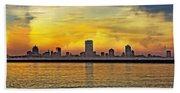 Sunset Over Milwaukee Beach Towel