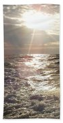 Sunset Over Nj After Fishing Beach Towel