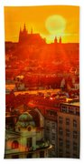 Sunset Over Prague Beach Towel