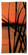 Sunset Over The Bay Beach Towel