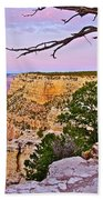 Sunset Over The Grand Canyon From South Rim Trail In Grand Canyon National Park-arizona   Beach Towel