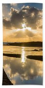 Sunset Over The Ocean I Beach Towel