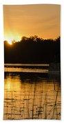 Sunset Over The Pontoon 4 Beach Towel