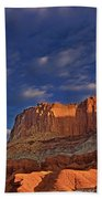 Sunset Over The Waterpocket Fold Capitol Reef National Park Beach Towel