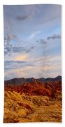 Sunset Over Valley Of Fire State Park In Nevada Beach Towel