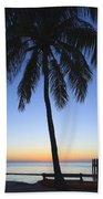 Sunset Palm Beach Towel