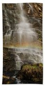Sunset Rainbow At Amicalola Falls Beach Towel