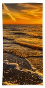 Sunset Seascape Beach Towel by Adrian Evans