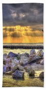 Sunset Serenade  Beach Towel