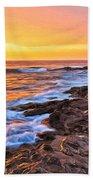 Sunset Shore Break Beach Towel