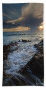 Sunset Spillway Beach Towel
