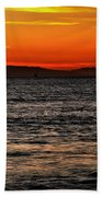 Sunset Surfer Beach Towel