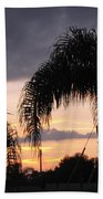 Sunset Through The Palms Beach Towel