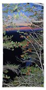 Sunset Thru The Pines Beach Towel